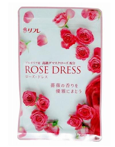 ローズドレス 口コミ 効果 リフレ バラ フレグランスサプリメント 香り Rose Dress ろーずどれす 通販 最安値 パッケージ2